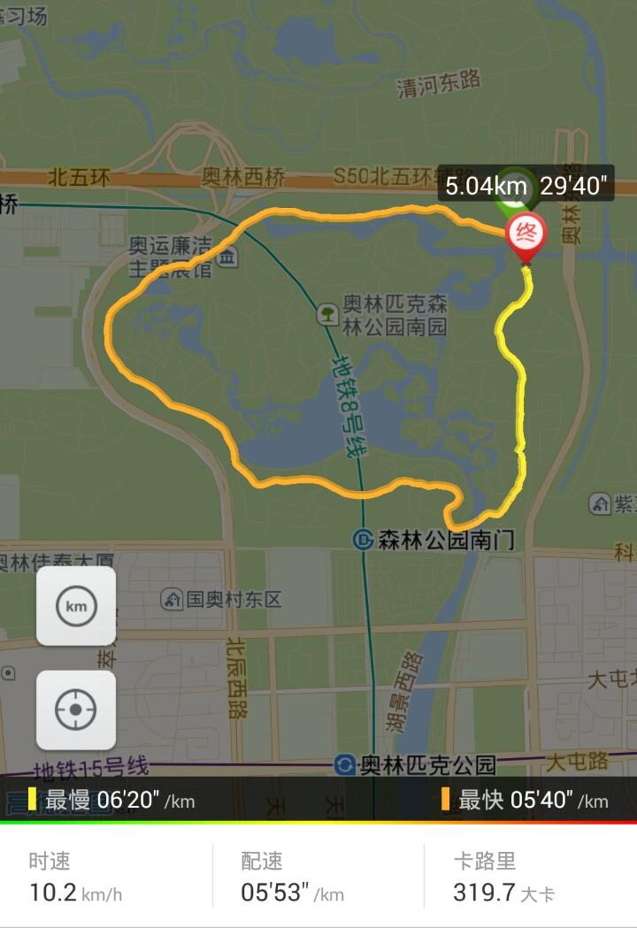 跑步记录-2015.08 - 10