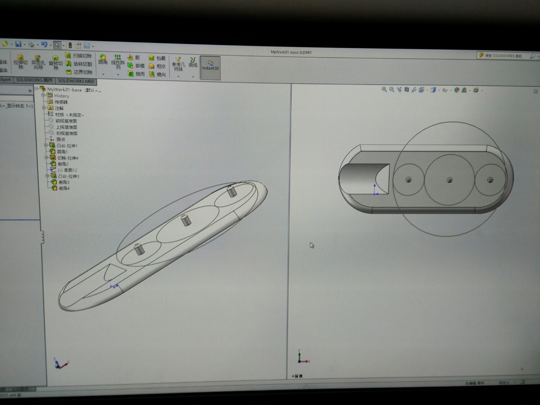 学习自己建模,初试SolidWorks